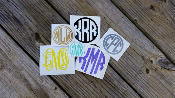 customized monogram decal