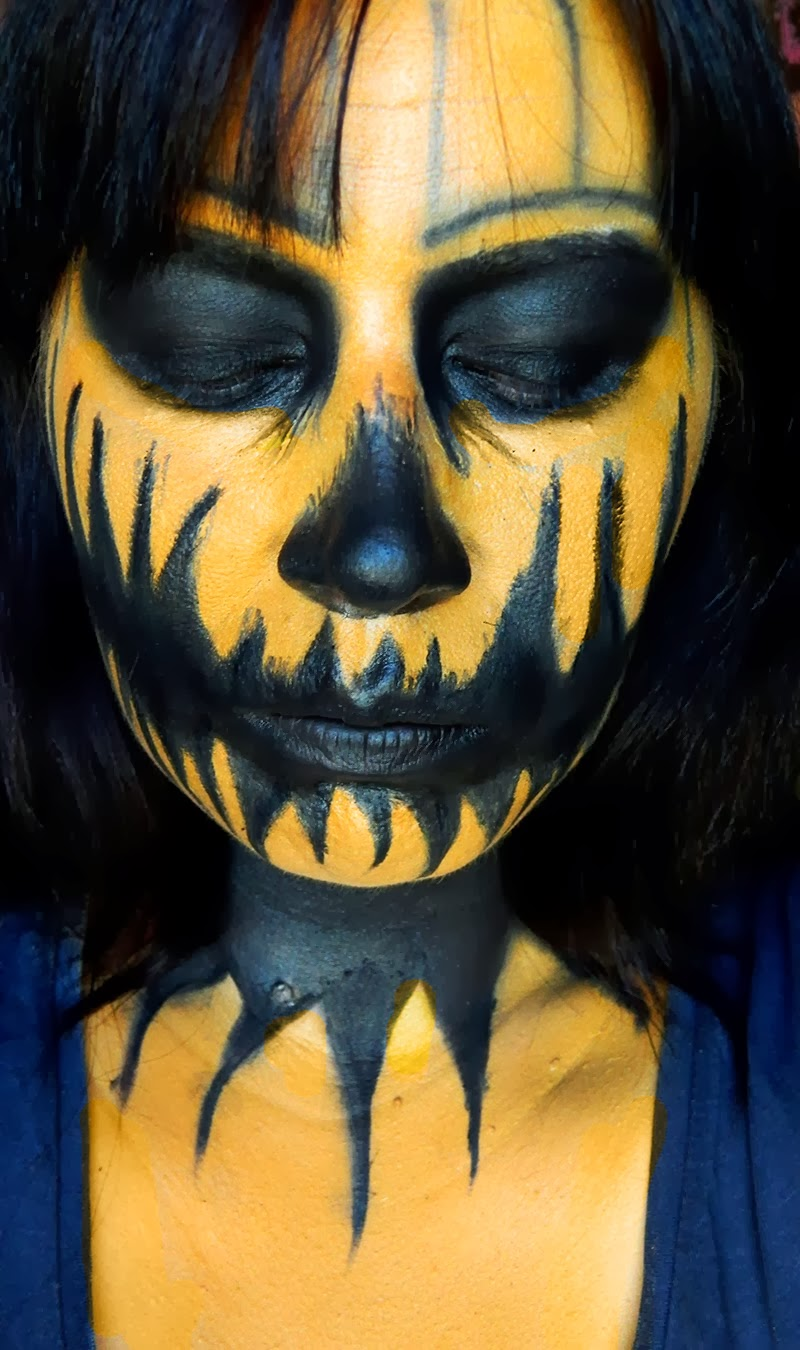 halloween makeup, maquillage halloween, jenni pumpkin, pumpkin makeup, halloween pumpkin