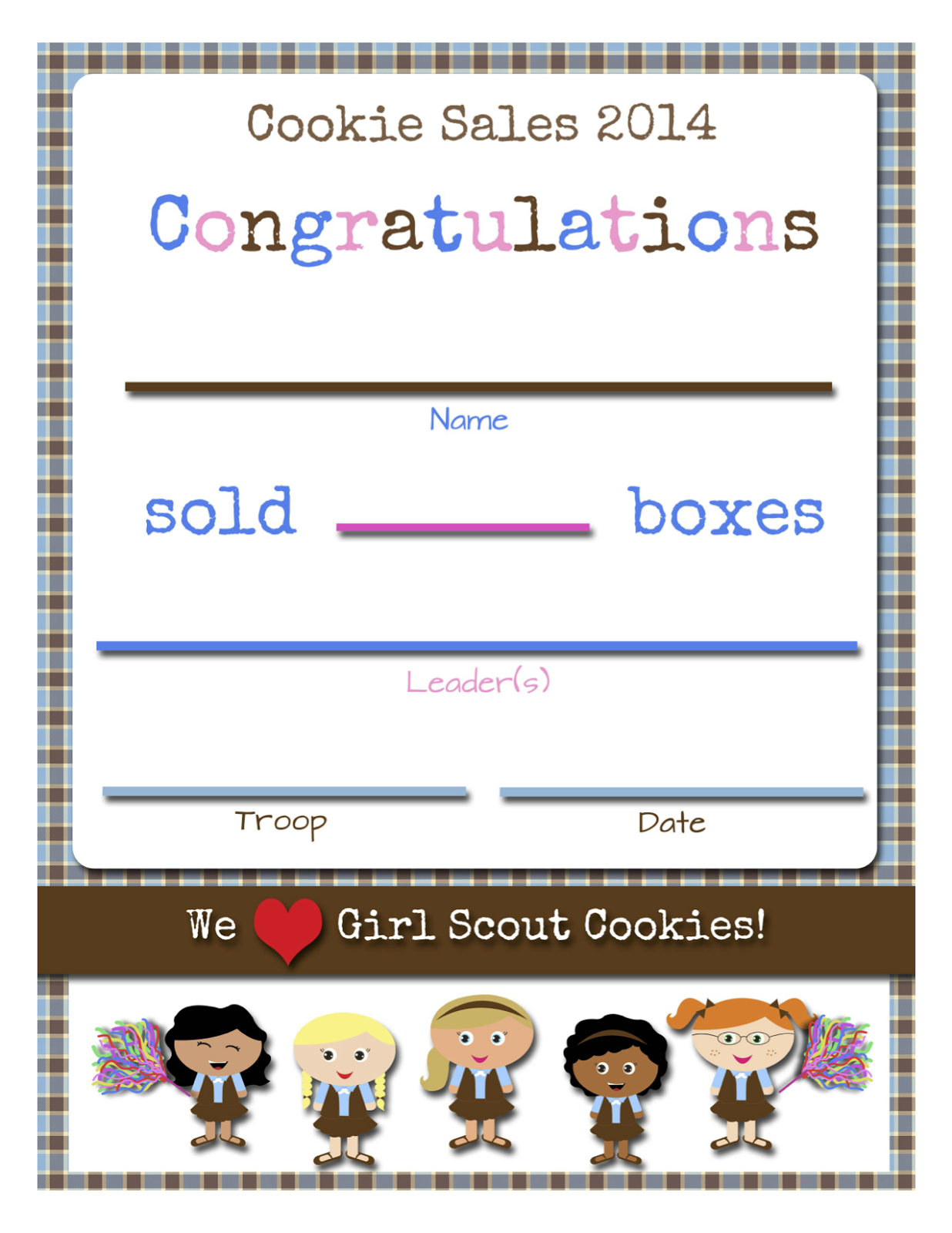 Fashionable Moms: Girl Scouts: FREE Printable Cookie Certificates
