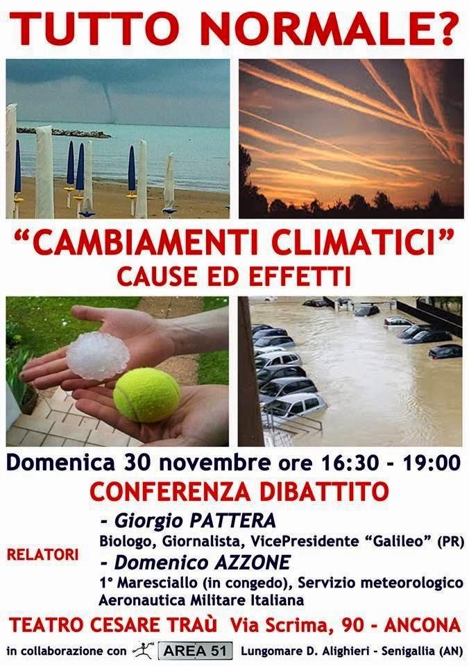 CAMBIAMENTI CLIMATICI, CAUSE ED EFFETTI