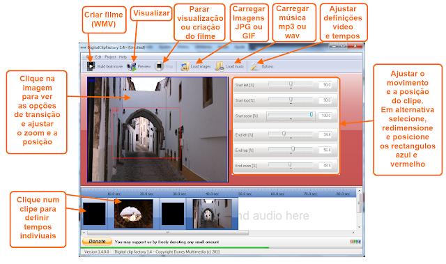Digital Clip Factory - Interface e dicas em Português