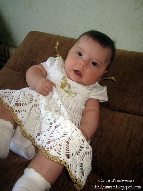 вязаный крестильный комплект для девочки, крестильное платье, крестильный наряд