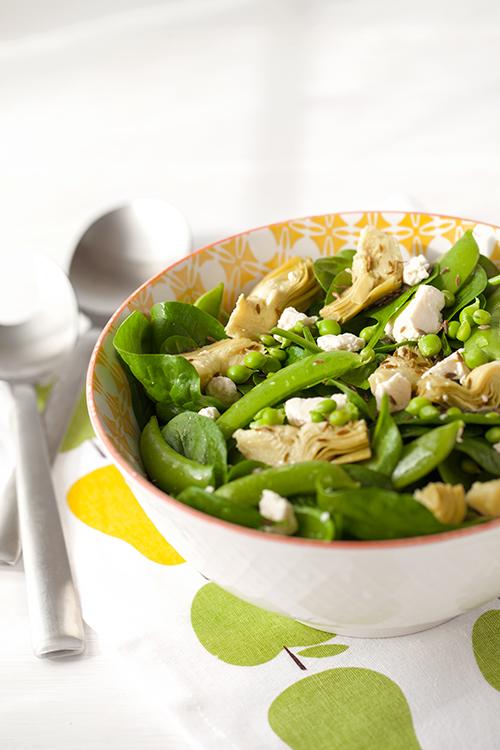 Greek VegetarianArtichoke Salad with Spinach, Feta and Sugar