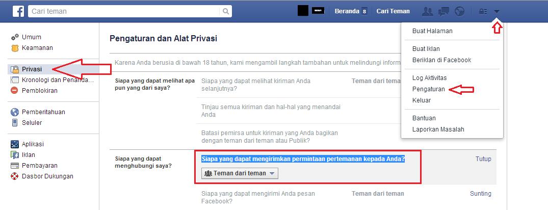 privasi fb
