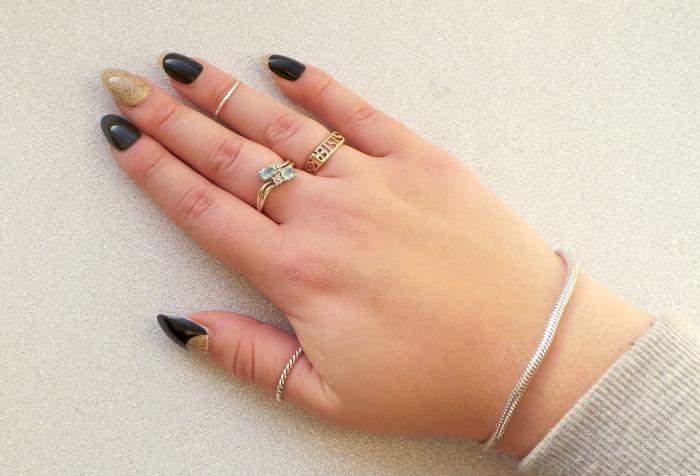 Elegant touch glitterbug nails