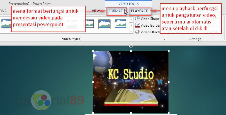 Cara menambah video di PowerPoint