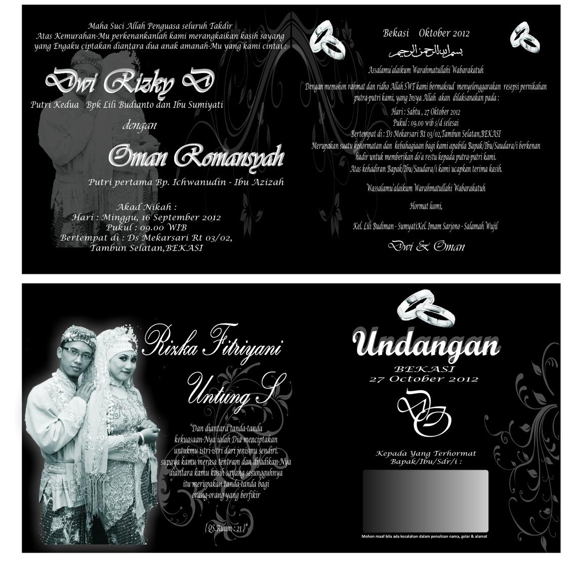 Undangan Sparasi Pernikahan Khitan Dan Baner