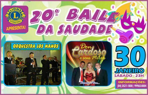 ¨É HOJE¨ BAILE DA SAUDADE - LIONS CLUBE DE MACAU DIA 30-01-16