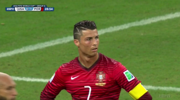 Cristiano Ronaldo Gets A Lightning Bolt Design In His Hair