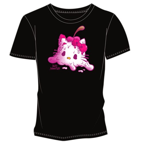 "Hello Kitty Con 2014 Exclusive Buff Monster x Hello Kitty ""Melty Kitty"" T-Shirt"
