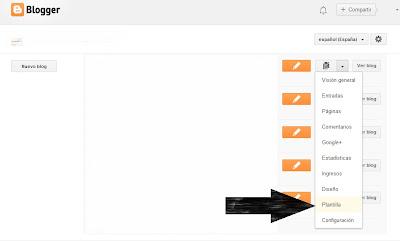 imagen ir a configuración blogger