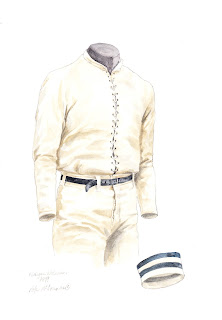 1879 University of Michigan Wolverines football uniform original art for sale