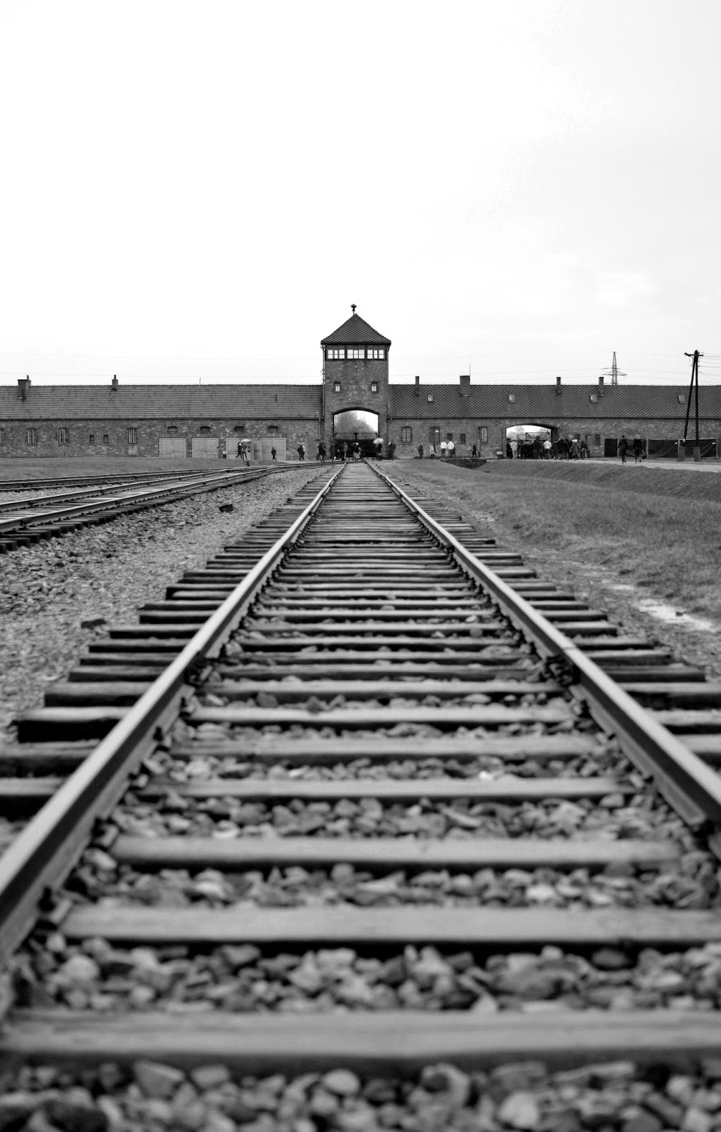 Auschwitz, Birkenau, train, black and white, schindlers list, nazi, concentration camp, photography, eastern Europe