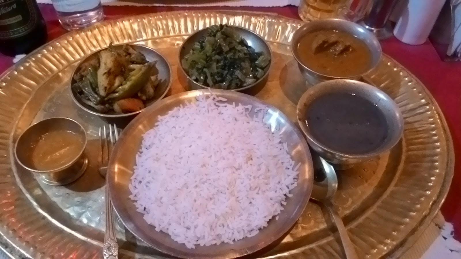 Nepali thali - Dal Bhat and Tarkari