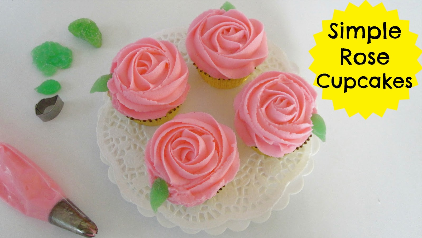 Video How To Pipe A Simple Buttercream Swirl Rose Cupcakes 101