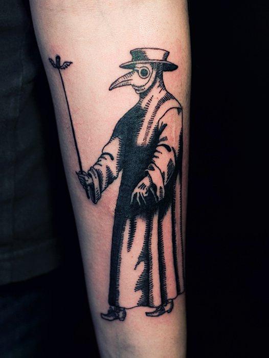 Fashion tattoos malefashion for Plague doctor tattoo