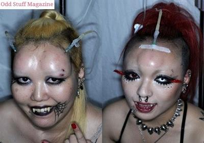 Cabeças de rosca: moda bizarra bomba no Japão!