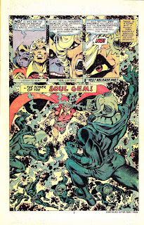 Warlock v1 #11 marvel 1970s bronze age comic book page art by Jim Starlin