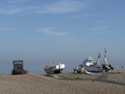 Fishing boats on Aldeburgh Beach