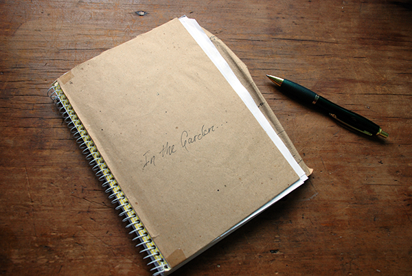 A notebook for garden ideas