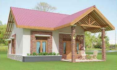 Desain Rumah Minimalis 2012 Latar Perkebunan .