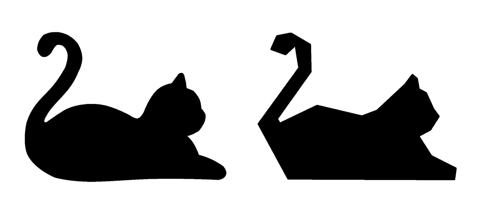Трафареты кошек своими руками сделать 450