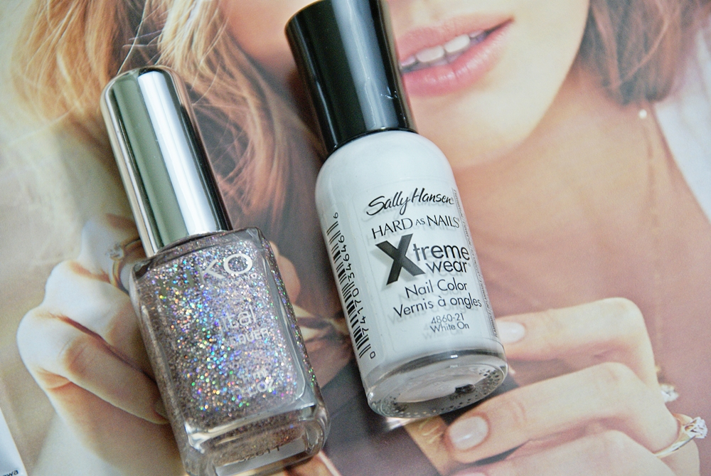 Sally Hansen White On & Kiko Digital Emotion Intuitive pink