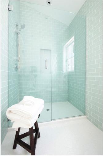 I am momma hear me roar the bathroom renovation part for Sea green bathroom ideas