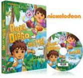 thumb dora and diego personalized kids dvd case My Fairytale Personalized Book/DVD/CD Review and Giveaway (Put your child in their own book or favorite show)
