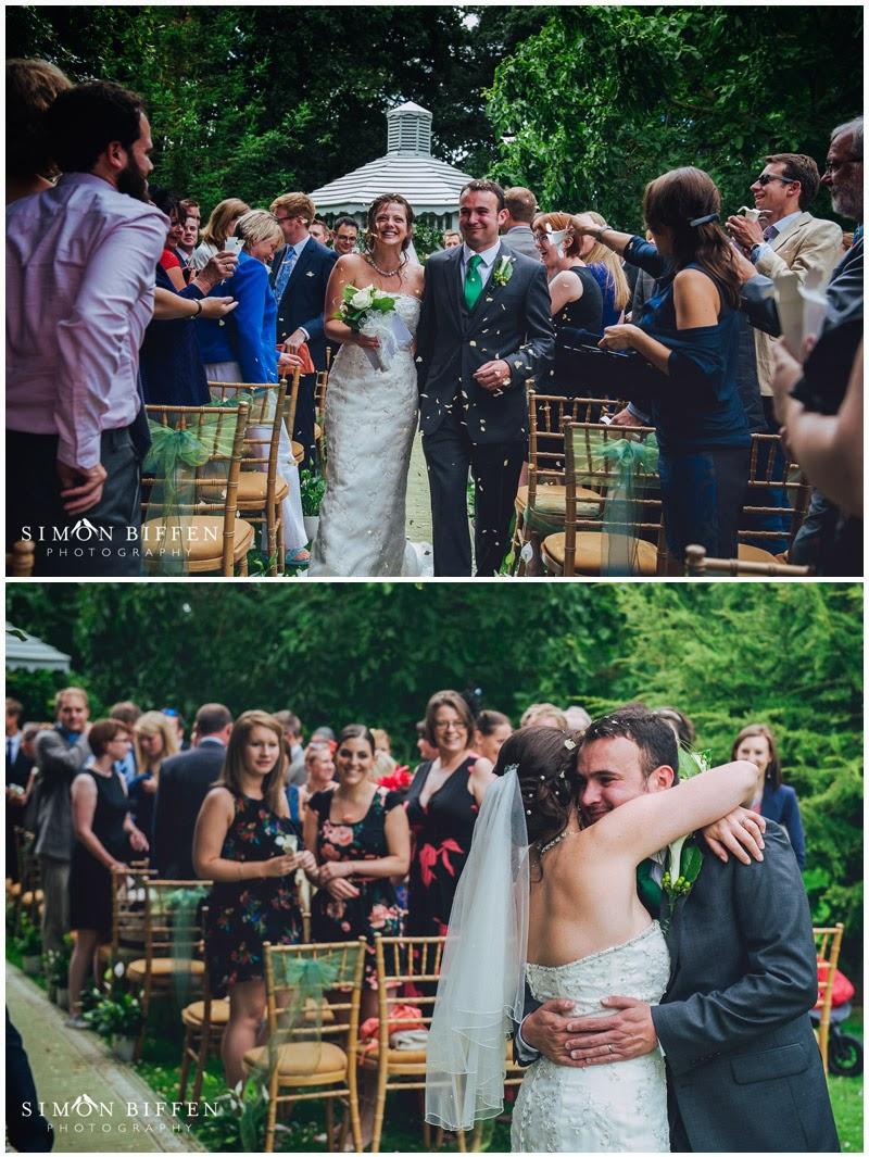 Maunsel house wedding ceremony confetti
