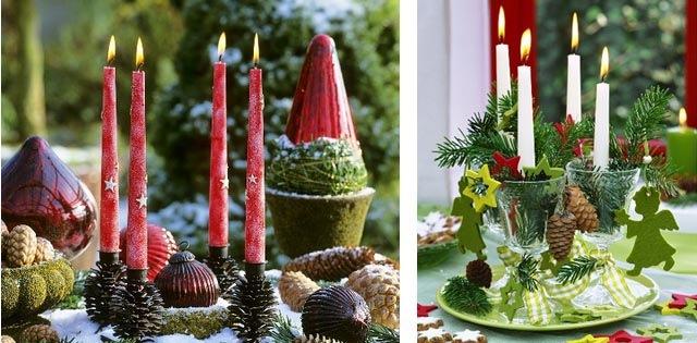 Как своими руками сделать новогодние свечи