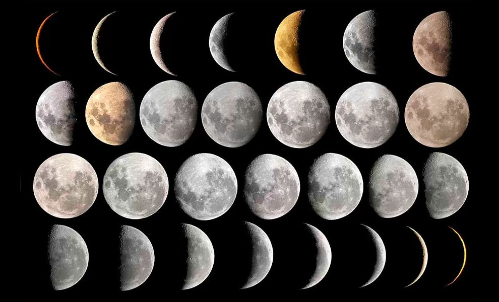 Aparência da lua Hoje