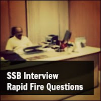 ssb interview rapid fire questions