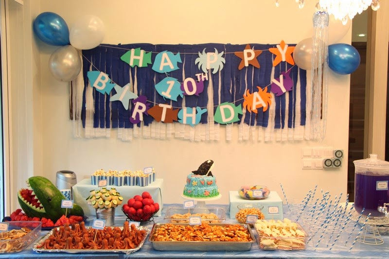 This Time I Planned A Birthday Party With Theme Blue Ocean My Son Desmond Like Sea Animals Eg Killer