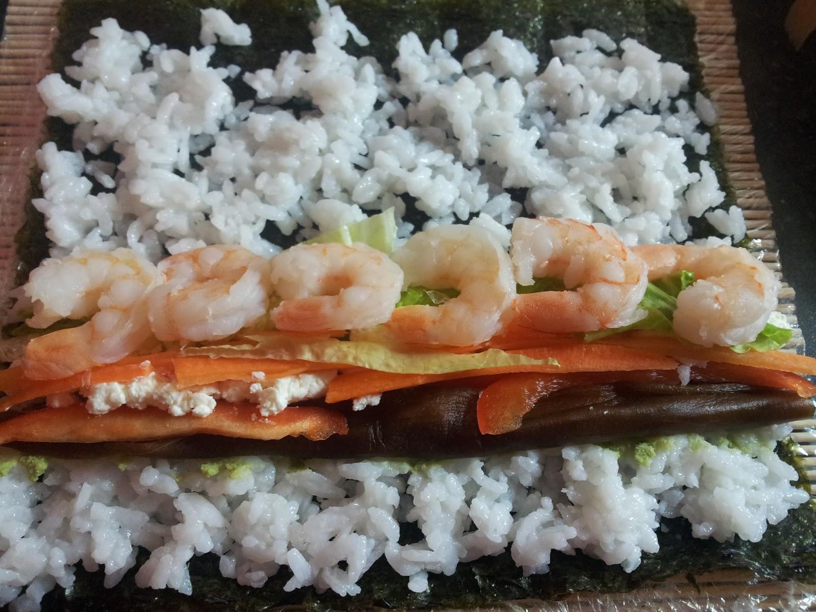sushi krewetki tykwa