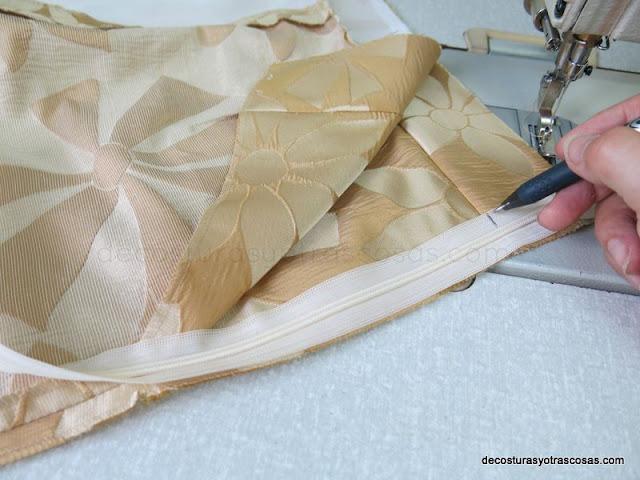 modo de coser una cremallera oculta