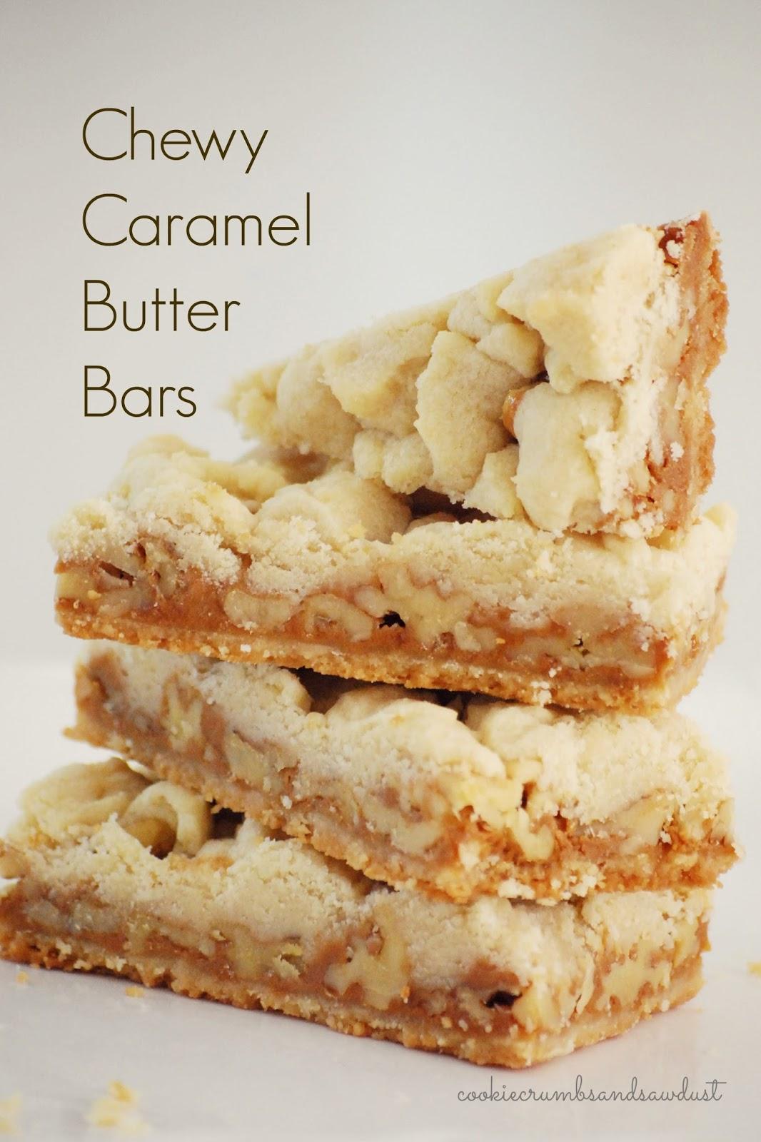 Chewy Caramel Pecan Bars Recipe — Dishmaps