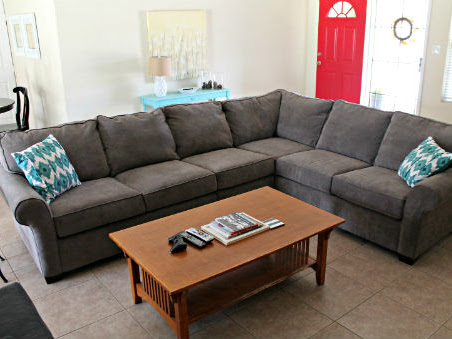 Charcoal Gray Sectional