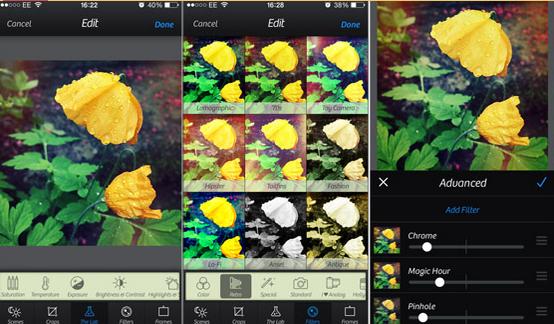 برامج تعديل الصور للايفون
