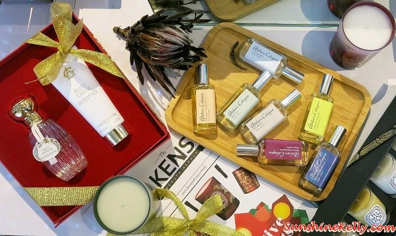 Glorious Gifts at KENS, Atelier Cologne, Diptyque Candles,  Annick Goutal Vent de Folie, Atelier Cologne Orange Sanguine