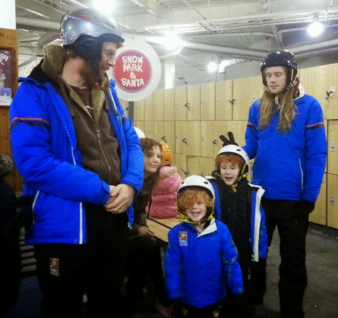 Ready for the snow park and santa visit at Chill Factor