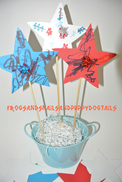 Star Center piece for memorial Day or 4th of July