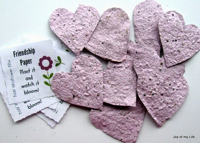 seed paper recycled paper crafts for kids