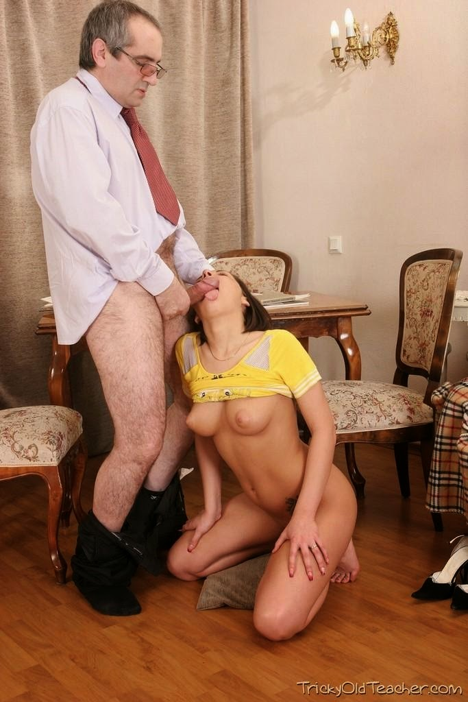 Tricky old teacher anal