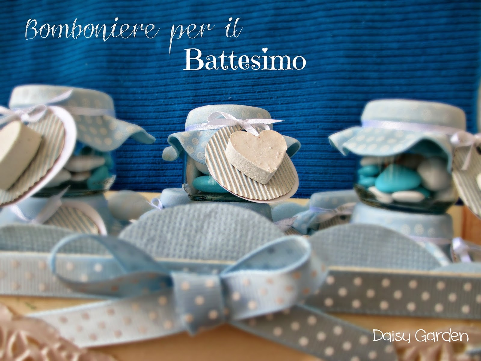 Piatti Di Carta Battesimo : Daisy garden le bomboniere per il battesimo