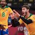 Bruninho comemora atuação do Brasil contra a Argentina