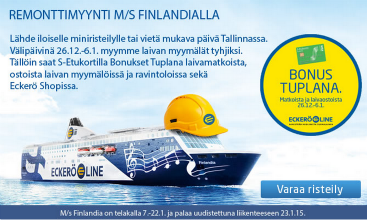 Tallinna tutuksi, Eckerö Line, Remonttimyynti, Tallinnaan