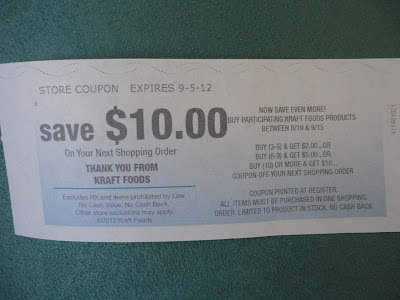 Catalina coupon for $10.00