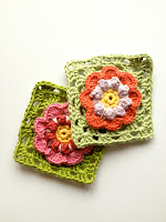 free crochet flower granny square pattern