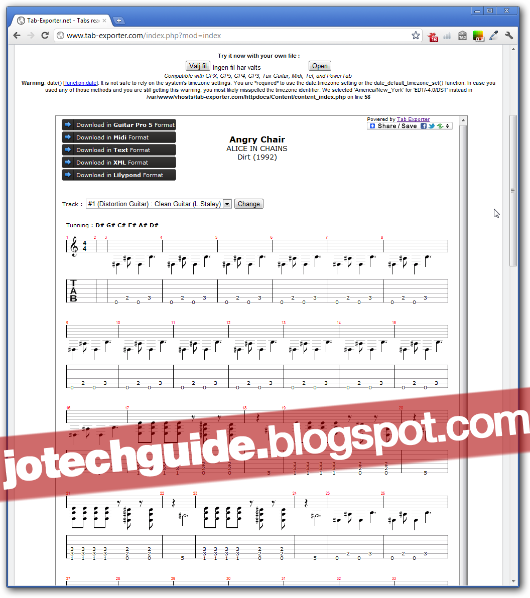 Open and convert Guitar Pro 6 / .GPX tab files in your web browser!
